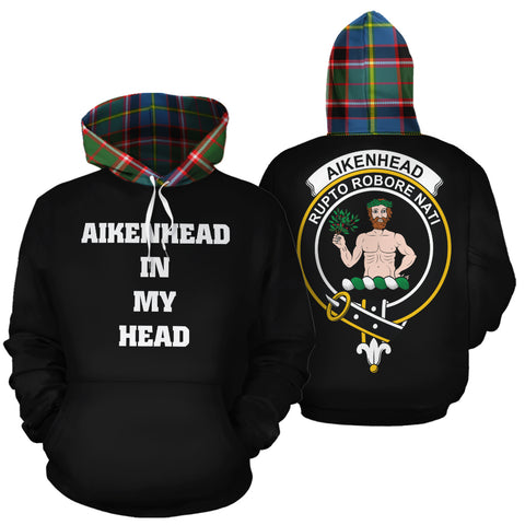 Image of Aikenhead In My Head Hoodie Tartan Scotland K9