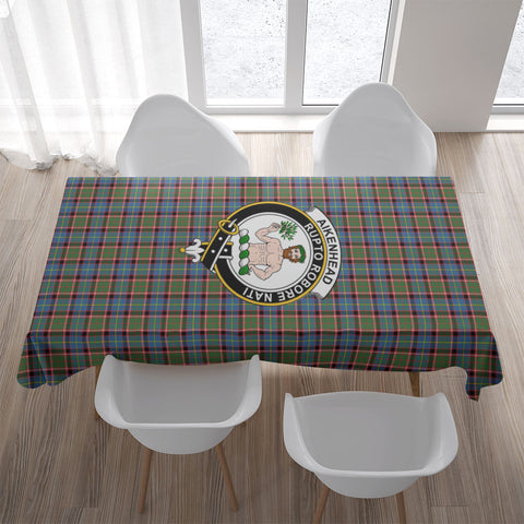 Image of Aikenhead Crest Tartan Tablecloth | Home Decor