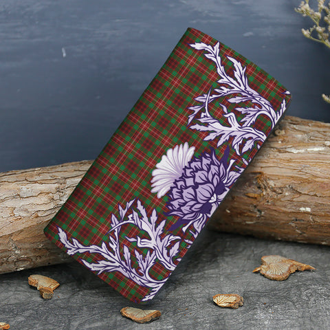 Image of Ainslie Tartan Wallet Women's Leather Thistle A91