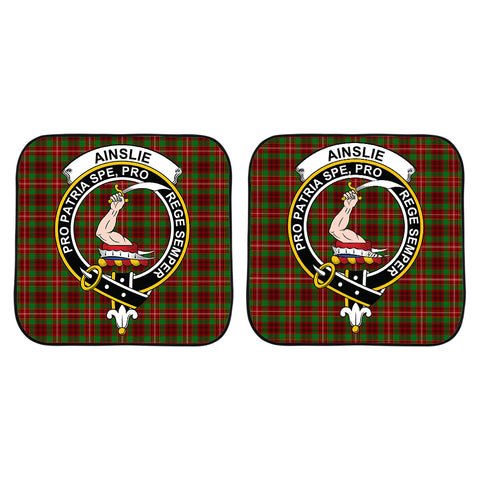 Ainslie Clan Crest Tartan Scotland Car Sun Shade 2pcs K7