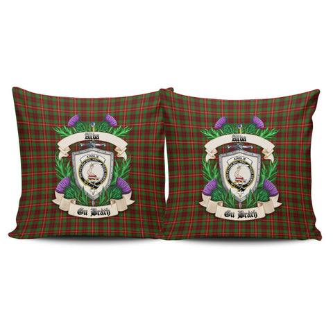 Ainslie Crest Tartan Pillow Cover Thistle (Set of two) A91 | Home Set