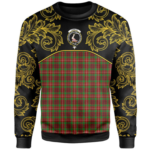 Ainslie Tartan Clan Crest Sweatshirt - Empire I - HJT4 - Scottish Clans Store - Tartan Clans Clothing - Scottish Tartan Shopping - Clans Crest - Shopping In scottishclans - Sweatshirt For You