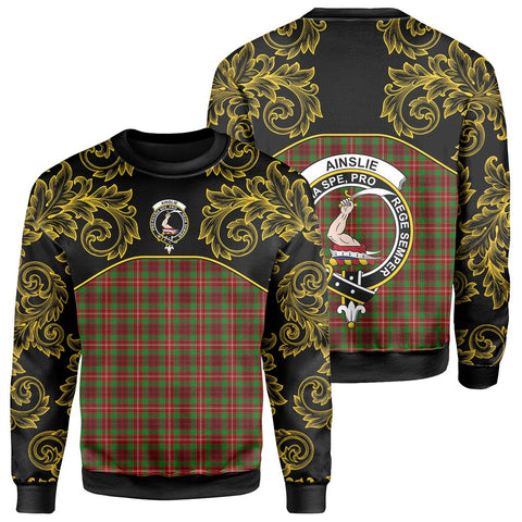 Image of Ainslie Tartan Clan Crest Sweatshirt - Empire I - HJT4