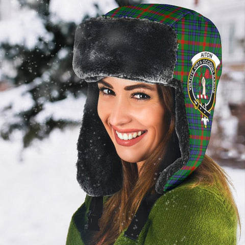 Image of Aiton Tartan Trapper Hat