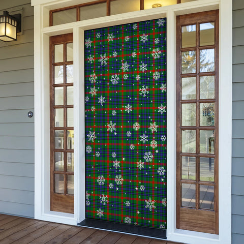 Aiton Christmas Tartan Door Sock Cover