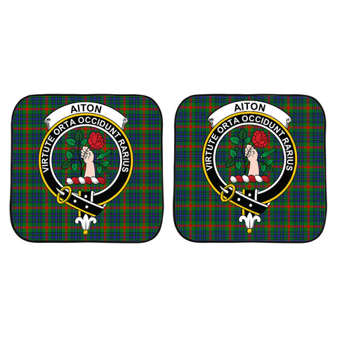 Aiton Clan Crest Tartan Scotland Car Sun Shade 2pcs K7