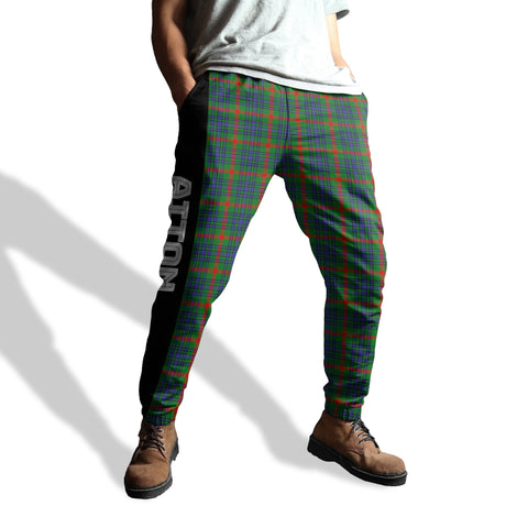 Image of Aiton - Tartan All Over Print Sweatpants - BN