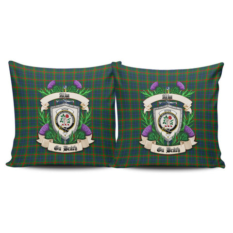 Aiton Crest Tartan Pillow Cover Thistle (Set of two) A91 | Home Set