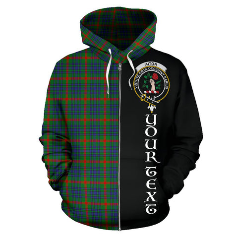 (Custom your text) Aiton Tartan Hoodie Half Of Me TH8