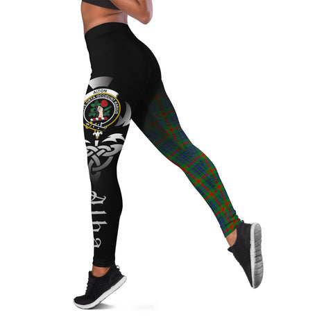 Aiton Crest Tartan Alba Celtic Leggings | Over 500 Tartans | Special Custom Design