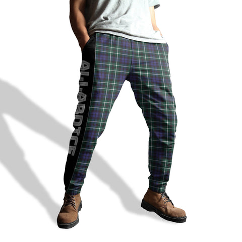 Allardice - Tartan All Over Print Sweatpants - BN