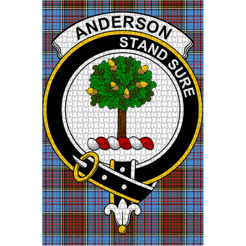 Image of Tartan Puzzle - Anderson Clan Tartan Jigsaw Puzzle - BN