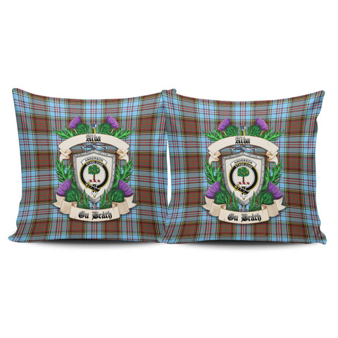 Anderson Ancient Crest Tartan Pillow Cover Thistle (Set of two) A91 | Home Set