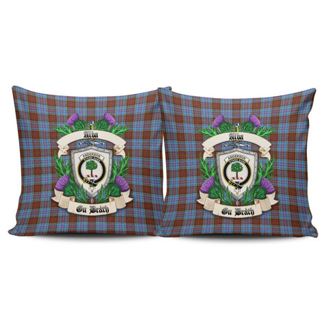 Anderson Modern Crest Tartan Pillow Cover Thistle (Set of two) A91 | Home Set