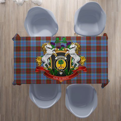 Anderson Modern Crest Tartan Tablecloth Unicorn Thistle | Home Decor