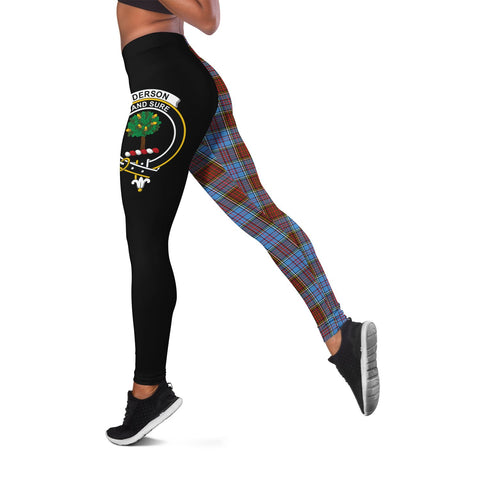 Anderson Modern Crest Tartan Leggings | Over 500 Tartans | Special Custom Design