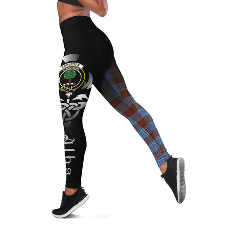 Anderson Modern Crest Tartan Alba Celtic Leggings | Over 500 Tartans | Special Custom Design