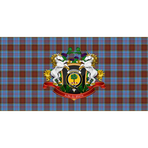 Anderson Modern Crest Tartan Tablecloth Unicorn Thistle A30
