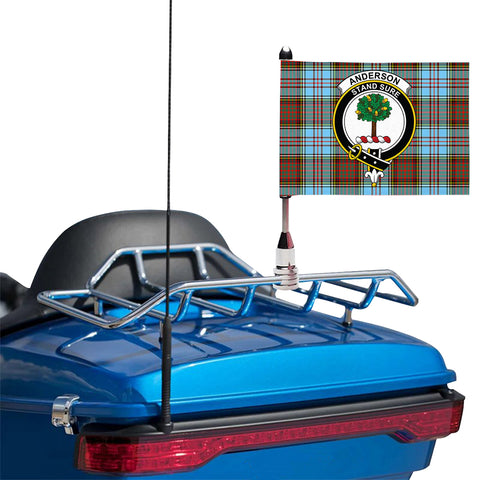Anderson Ancient Clan Crest Tartan Motorcycle Flag