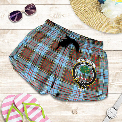 Anderson Ancient crest Tartan Shorts For Women