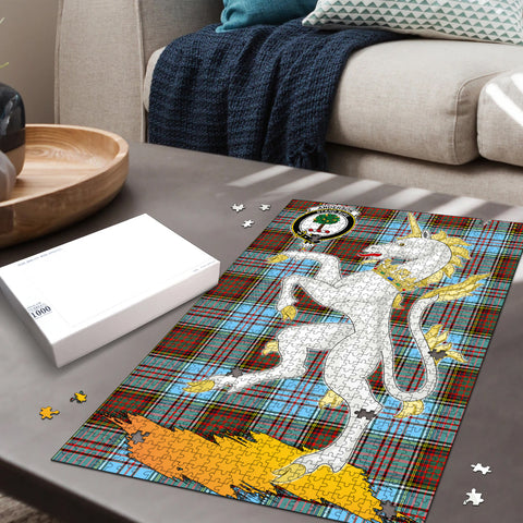 Anderson Ancient Clan Crest Tartan Unicorn Scotland Jigsaw Puzzle