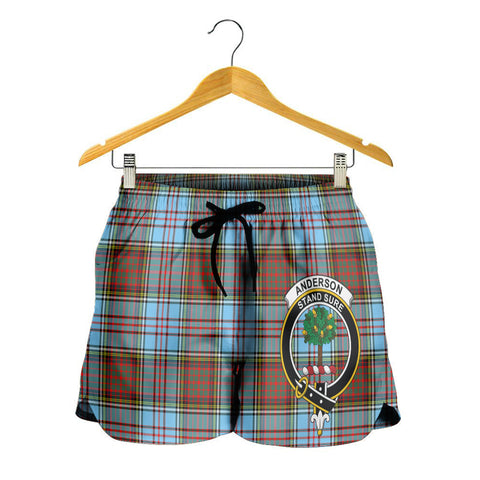 Anderson Ancient Crest Tartan Shorts For Women K7