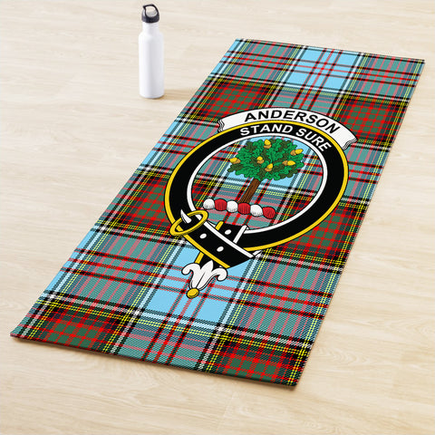 Image of Anderson Ancient Clan Crest Tartan Yoga mats