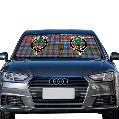 Image of Anderson Modern Clan Crest Tartan Scotland Car Sun Shade 2pcs