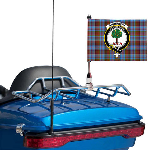 Image of Anderson Modern Clan Crest Tartan Motorcycle Flag