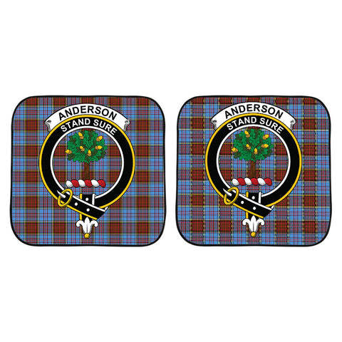 Image of Anderson Modern Clan Crest Tartan Scotland Car Sun Shade 2pcs K7
