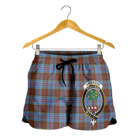 Image of Anderson Modern Crest Tartan Shorts For Women K7