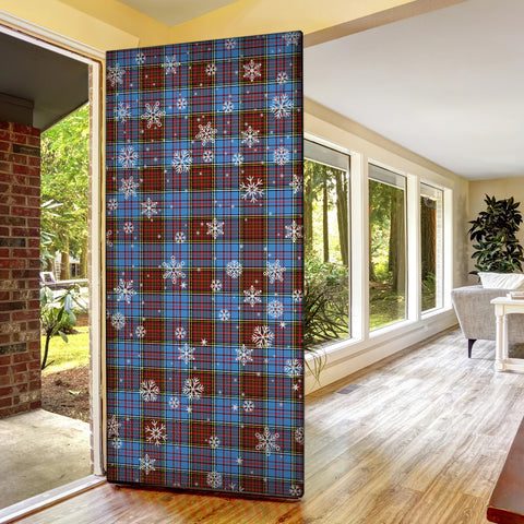 Anderson Modern Christmas Tartan Door Sock Cover