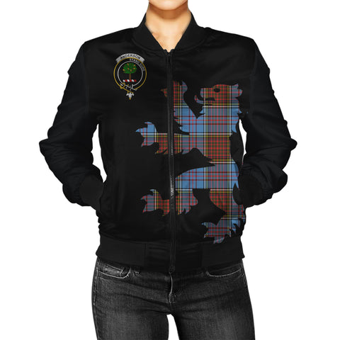 Image of Anderson Tartan Lion & Thistle Women Jacket | scottishclans.co