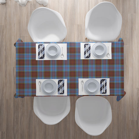Image of Anderson Modern Tartan Tablecloth | Home Decor