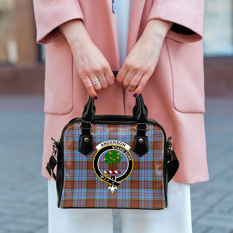Anderson Modern Tartan Clan Shoulder Handbag | Special Custom Design