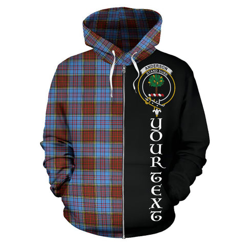 (Custom your text) Anderson Modern Tartan Hoodie Half Of Me TH8
