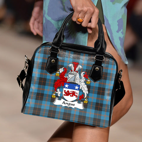 Angus Ancient Tartan Clan Shoulder Handbag | Special Custom Design