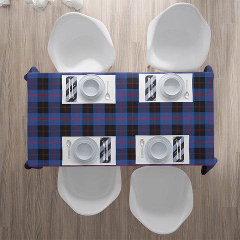 Image of Angus Modern Tartan Tablecloth | Home Decor