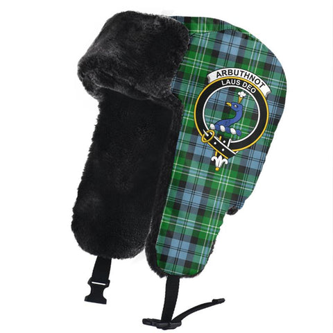 Arbuthnot Ancient Clan Crest Tartan Trapper Hat