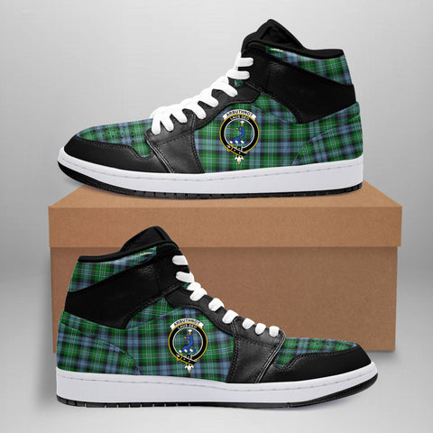 Arbuthnot Ancient Clan Crest Tartan Jordan Sneaker (Women's/Men's) A7