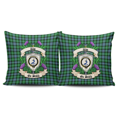 Arbuthnot Ancient Crest Tartan Pillow Cover Thistle (Set of two) A91 | Home Set
