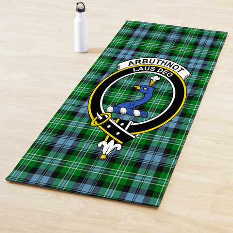 Image of Arbuthnot Ancient Clan Crest Tartan Yoga mats