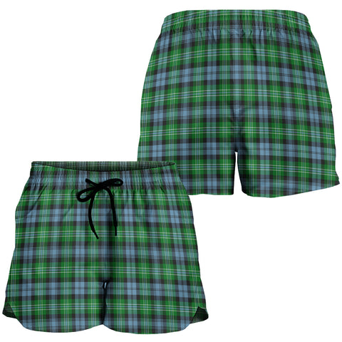 Arbuthnot Ancient Crest Tartan Shorts For Women K7
