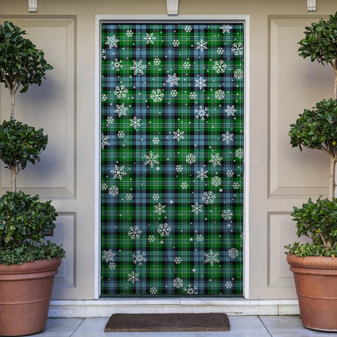 Image of Arbuthnot Ancient Christmas Tartan Door Sock Cover