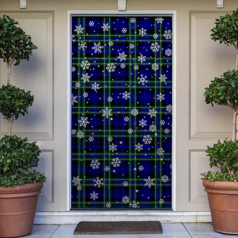 Image of Arbuthnot Modern Christmas Tartan Door Sock Cover