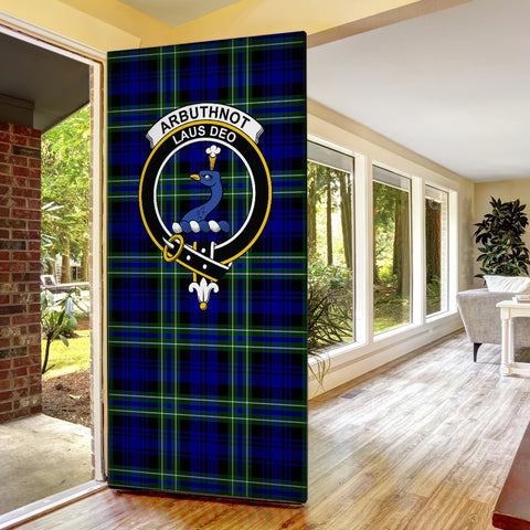 Image of Arbuthnot Modern Tartan Door Sock Cover