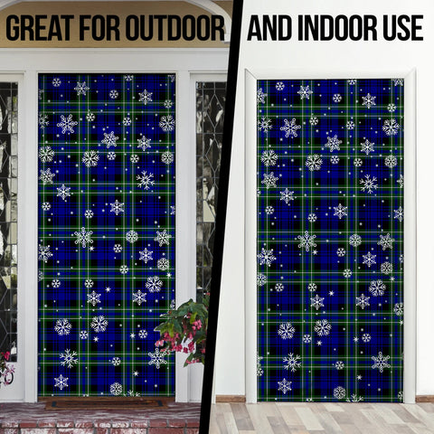 Arbuthnot Modern Christmas Tartan Door Sock Cover