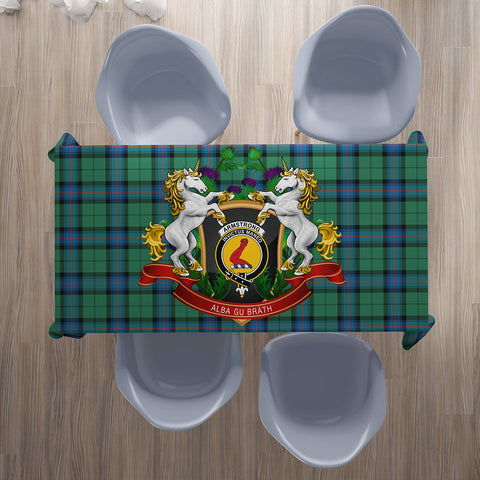 Armstrong Ancient Crest Tartan Tablecloth Unicorn Thistle | Home Decor