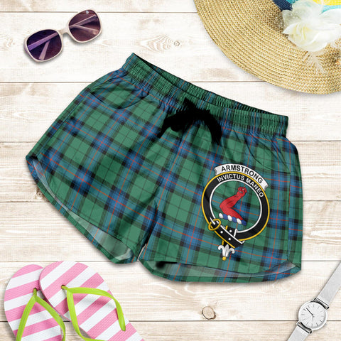 Armstrong Ancient crest Tartan Shorts For Women