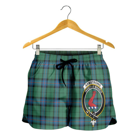 Image of Armstrong Ancient Crest Tartan Shorts For Women K7